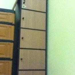 berhubung kamarnya sempit jadinya beli lemari model begini