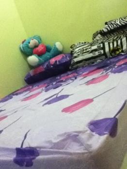 spring bed baru setelah dipakein sprei